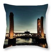 The Tower Bridge At Sunset Throw Pillow
