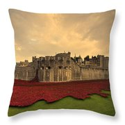 The Tower Poppies  Throw Pillow