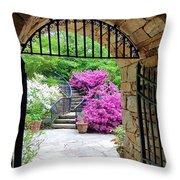 The Tower's Garden Door Throw Pillow