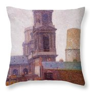 The Towers Saint Sulpice 1887 Throw Pillow