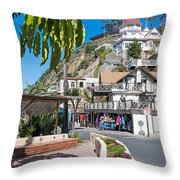 The Town Of Avalon Throw Pillow