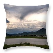 The Town Of Eagle Nest Throw Pillow