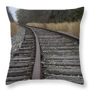 The Tracks Throw Pillow
