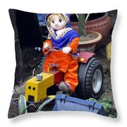 The Tractor Driver Throw Pillow