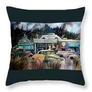 The Trading Post Throw Pillow