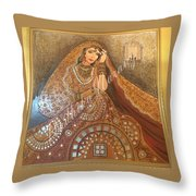 The Traditional Lady Throw Pillow