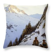 The Trail Over The Pass, 1910 Throw Pillow