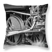 The Train Goes By Throw Pillow