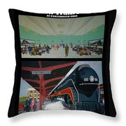 The Train Station At Portsmouth Ohio Throw Pillow
