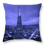 The Transamerica Pyramid At Sunset Throw Pillow
