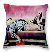 The Traveler 1 - El Viajero 1 Throw Pillow