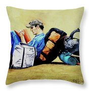 The Traveler 2 - El Viajero 2 Throw Pillow