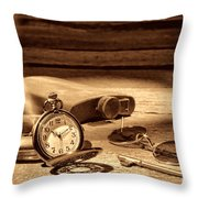 The Traveler  Throw Pillow