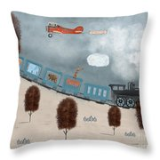 The Traveling Circus Throw Pillow
