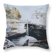 The Trawler Crosby Throw Pillow