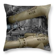 The Treatment Of Water Throw Pillow by Peter Piatt