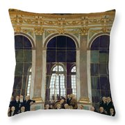 The Treaty Of Versailles Throw Pillow