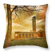 The Tree And The Bell Tower Throw Pillow