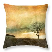 The Tree And The Roof Top Throw Pillow