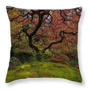 The Tree In Spring Throw Pillow