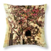 The Tree In The Corner Of The Courtyard Throw Pillow