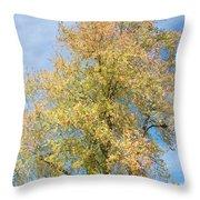 Town Tree  Throw Pillow
