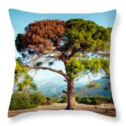 The Tree Of Life And Dead Throw Pillow