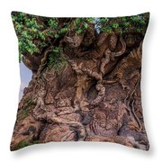 The Tree Of Life Close Throw Pillow