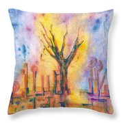 The Tree On The Road. 19 March, 2016 Throw Pillow