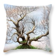 The Tree On The Top Of The Hill  Throw Pillow