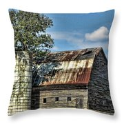 The Tree Silo Throw Pillow