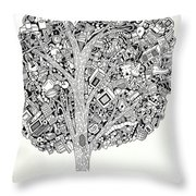 The Tree That Never Fails Throw Pillow
