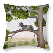 The Tree Whippet Throw Pillow