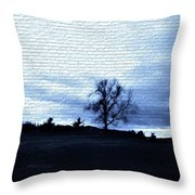 The Trees In Winter Throw Pillow