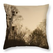 The Trees With Mistletoe. Throw Pillow