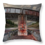 The Trestle With The Pestle Throw Pillow