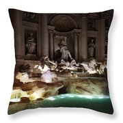 The Trevi Fountain In Rome Throw Pillow