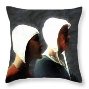 The Trial Of The Heretics Throw Pillow