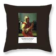 The Triangle Player Throw Pillow