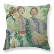 The Trio  Throw Pillow