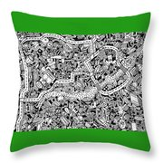 The Trip Throw Pillow by Chelsea Geldean