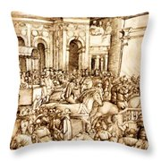 The Triumph And Vespasian De Titus 1500 Throw Pillow
