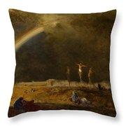 The Triumph At Calvary Throw Pillow