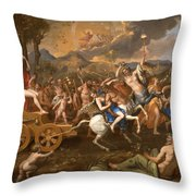 The Triumph Of Bacchus Throw Pillow