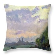 The Trocadero Throw Pillow by Albert Charles Lebourg