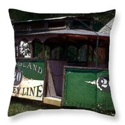 The Trolley Out Back Throw Pillow