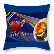 The Trombone Jazz 001 Throw Pillow