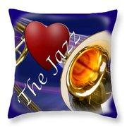 The Trombone Jazz 002 Throw Pillow