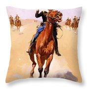 The Trooper 1892 Throw Pillow