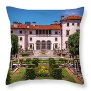 The Tropical Estate Throw Pillow